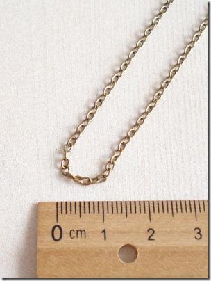 ネックレス あずきチェーン 45cm アンティークゴールド