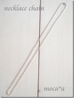 アクセサリーパーツ、ネックレス キヘイチェーン 48cm 白銀色